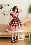 Cute Lolita Dress Sweet Princess Dress With Short Sleeves One Piece Dress