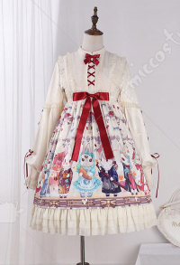 Cute Dress Lolita Sweet Dress Little Bunny Girl One Piece Dress