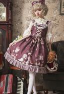 Sweet Lolita JSK Crowned Bear Printed Sweety Girl Daily Lolita Dress