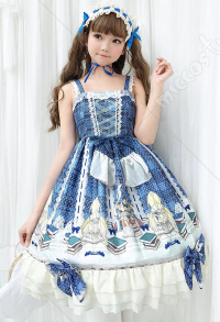 Fantasy Academy Cute Lolita Dress Vintage Ruffled Jumper Skirt Adult And Child