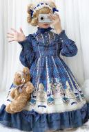 Fantasy Academy Cute Lolita Dress Vintage Ruffled One Piece Dress