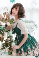 Cute Lolita Dress Ode To Peace One Piece Dress Idyllic Lolita Jumper Skirt