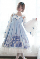 Cute Lolita Dress Snow Country Girl Sweet Princess Dress