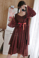 Cute Dress Daytime Shooting Star Summer Suit Chiffon Sun Protection Blouse