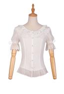 Cute Lolita Shirt Vintage Shirt Elegant Lolita Shirt Short Sleeves