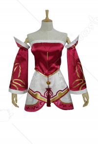 League of Legends Classic Ahri Fox Cosplay Costume Dress