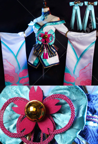 League of Legends LOL Spirit Blossom Ahri Cosplay Kostüm Outfit Set