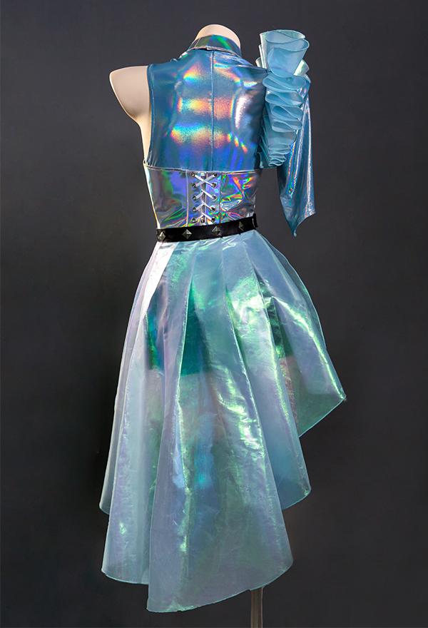 League of Legends LOL KDA ALL OUT Seraphine Superstar Frauen Gradient Cosplay Kostüm mit allem Zubehör