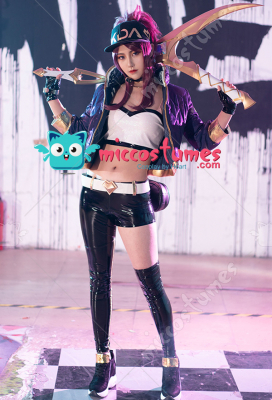 League of Legends KDA Luminous Pop Star Girls Akali Reversible Jacket Cosplay Costume