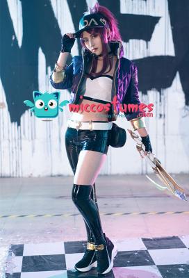 League of Legends Luminous Pop Star Girls Akali Reversible Jacket Cosplay Costume