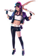 League of Legends K/DA Luminous Pop Star Girls Akali Cosplay Costume