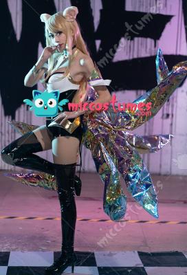 League of Legends KDA Pop Star Girls Ahri Cosplay Costume