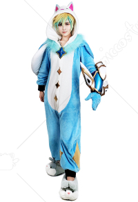 League of Legends Pajama Schlafanzug Guardian Ezreal Cosplay Kostüm