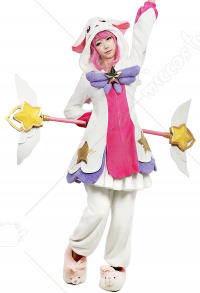 League of Legends Pajama Schalfanzug Guardian Lux Cosplay Kostüm