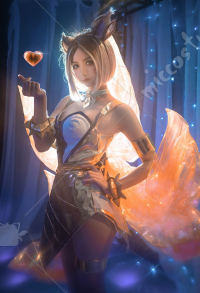 League of Legends Prestige KDA Ahri Cosplay Kostüm