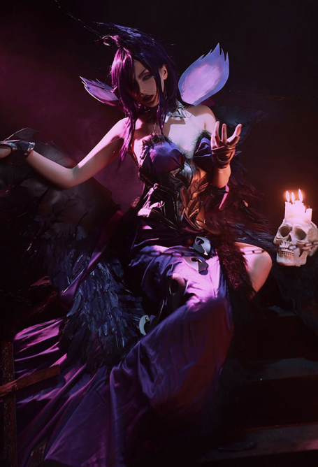 League of Legends Cosplay Morgana The Fallen Angel Cosplay Costume Including Accessory