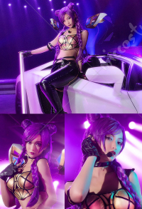 League of Legends KDA Pop Star Kaisa Cosplay Kostüm