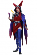 League of Legends Xayah Cosplay Costume with Ears, Bird feet covers and Skull decoration