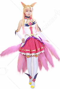 League of Legends Ahri Cosplay Kostüm Kleid