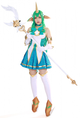 League of Legends Soraka Cosplay Costume Dress