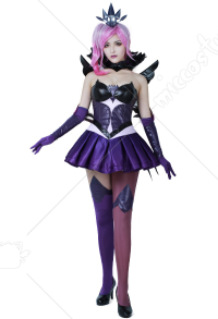 League of Legends Dark Élémentaliste Costume de Cosplay Lux