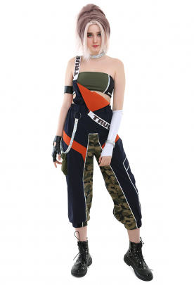 League of Legends True Damage Akali Cosplay Costume Set