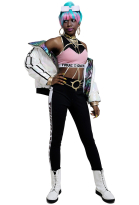 League of Legends LOL True Damage Qiyana Cosplay Costume Jacket Outfit Full Set
