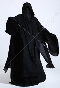 Dark side Witch King Black Sith Hooded Robes Cloak Cosplay Costume Halloween Adult Hood