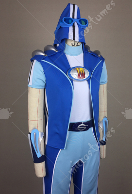 Deluxe Handmade Lazy Town Sportacus Full Set Cosplay Costume Including Shoes and Hat