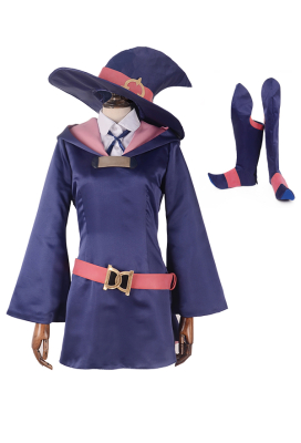 Little Witch Academia Kagari Atsuko Akko Cosplay Costume with boot covers