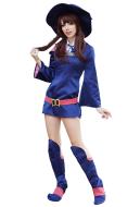 Little Witch Academia Kagari Atsuko Akko Cosplay Costume with Boot Covers