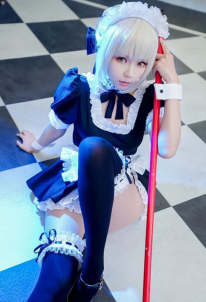Fate Saber Maid Uniform Cosplay Costume
