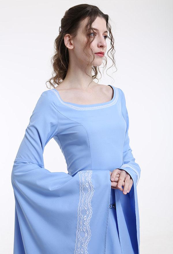 Mittelalterliches Renaissance Halloween Party Kostüm Handgemachtes Retro Kleid Gewand