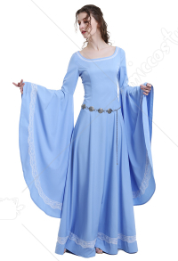 Medieval Renaissance Costume Handmade Historical Retro Dress Gown for Role Play Party LARP Halloween
