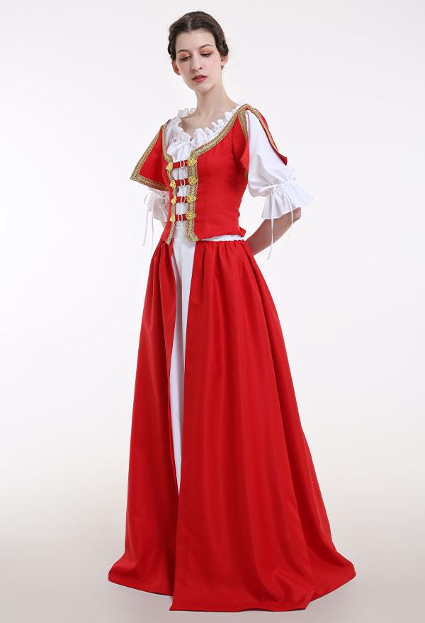 Mittelalterliches Renaissance Halloween Party Kostüm Handgemachtes Retro Kleid im Irischen Stil