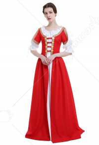 Medieval Renaissance Costume Handmade Historical Retro Dress Irish Style Full Set for Role Play Party LARP Halloween