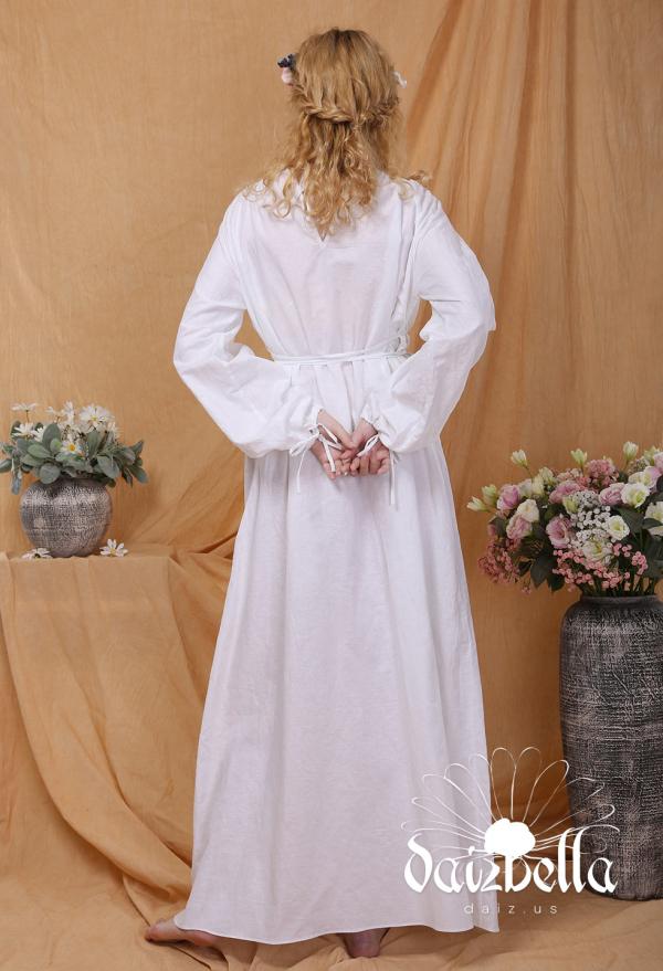 Süßer Traum: Exklusiv  Mittelalterliches Renaissance Handgemachtes Unterkleid aus Baumwolle und Leinen