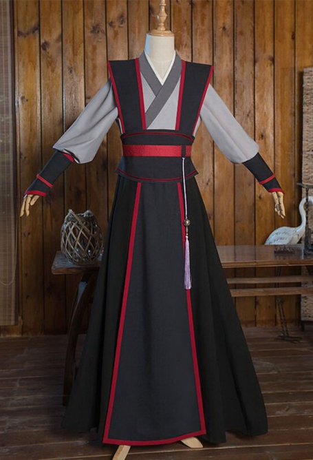 Mo Dao Zu Shi Grandmaster of Demonic Cultivation Costume de Cosplay Wei Wuxian Version de Jeunesse Hanfu Tenue Traditionnelle Chinoise