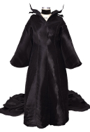 Plus Size Exclusive Female Halloween Cosplay Costume Gown Dress with Headgear Inspired by Maleficent