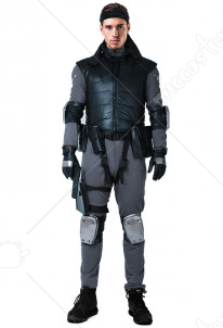 Metal Gear Solid Snake Cosplay Costume with Belts Set