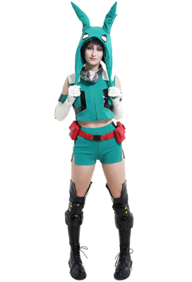 My Hero Academia Costume de Cosplay Midoriya Izuku Deku Version Féminine