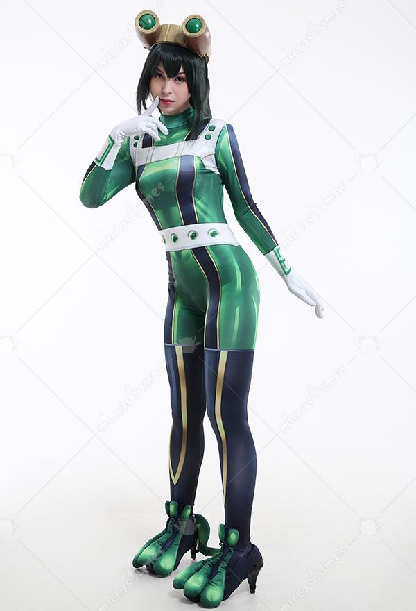 My Hero Academia MHA Women Asui Tsuyu Battle Suit Zentai ...