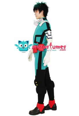 My Hero Academia Midoriya Izuku Deku Cosplay Costume Fighting Suit