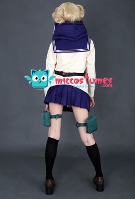 My Hero Academia League of Villains Himiko Toga Cosplay Costume Uniform with Neckwear and Mask