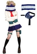 [Free US Economy Shipping] My Hero Academia League of Villains Himiko Toga Cosplay Costume Uniform with Neckwear and Mask