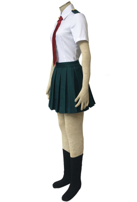 My Hero Academia Female Summer School Uniform Cosplay Costume with Tie