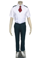 My Hero Academia Male Summer School Uniform Cosplay Costume including Long Tie or Short Tie