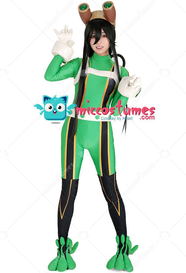 My Hero Academia Froppy Tsuyu Asui Cosplay Bodysuit Jumpsuit Costume Hero Suit