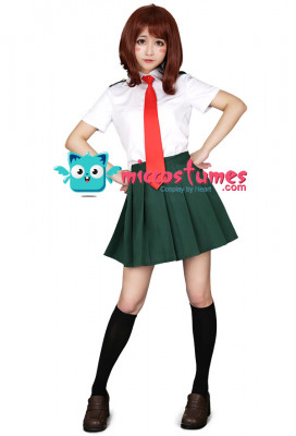 [Free Shipping]My Hero Academia Summer School Uniform Cosplay Costume for Women with Tie