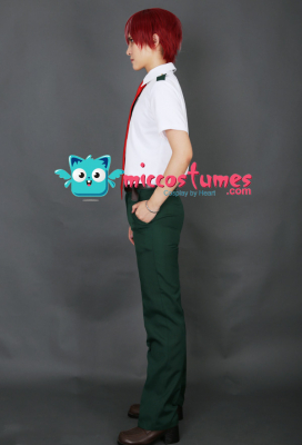 My Hero Academia Summer School Uniform Cosplay Costume for Men with Long Tie and Short Tie
